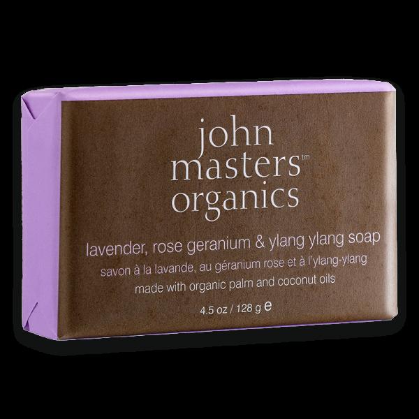 lavender, rose geranium & ylang ylang soap