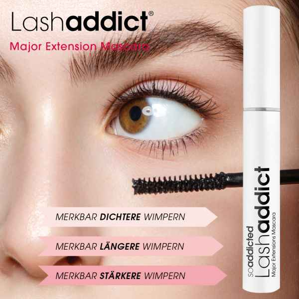 Lashaddict Major Extension Mascara - mit Wachstums-Serum