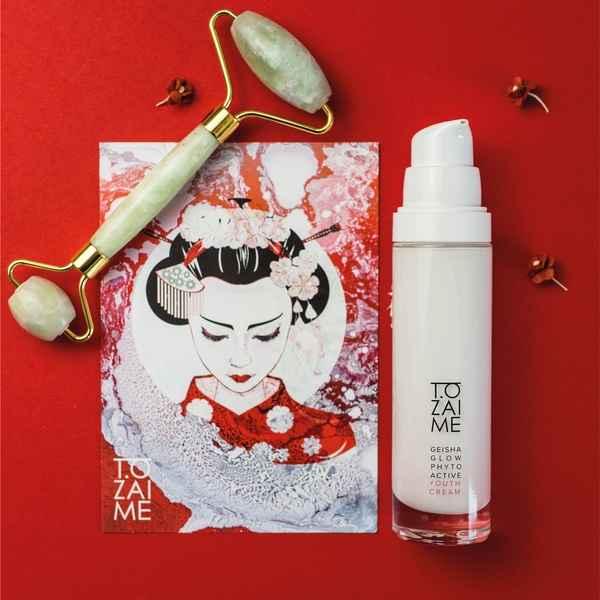Geisha Glow Phytoactive Youth Cream & Jade Roller Set- Gesichtscreme für extrem empfindliche Haut