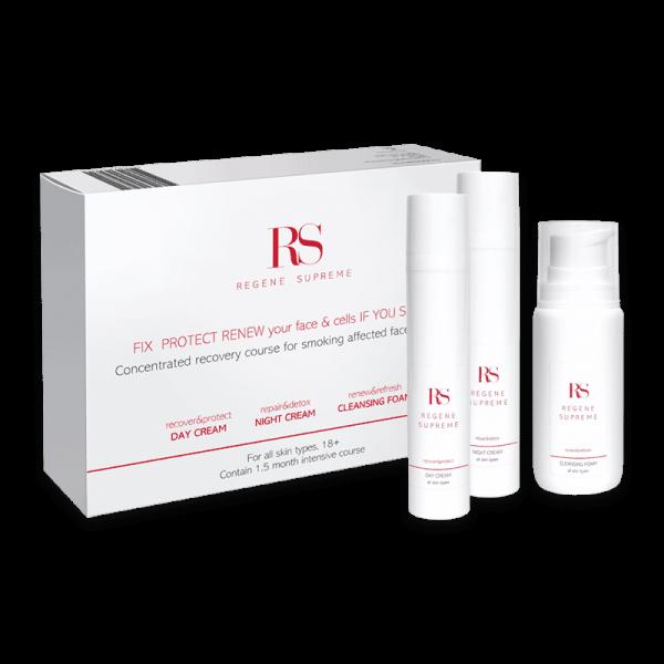 Skin Care Set Haut-Erneuerungskur für Raucher